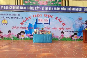 """Chiều ngày 14/1, Trường TH Thanh Liệt đã tổ chức thành công """"Ngày hội đọc sách"""" với chủ đề """" Môi trường hôm nay – Cuộc sống ngày mai"""""""